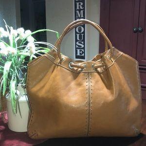 Michael Kors leather studded shoulder bag